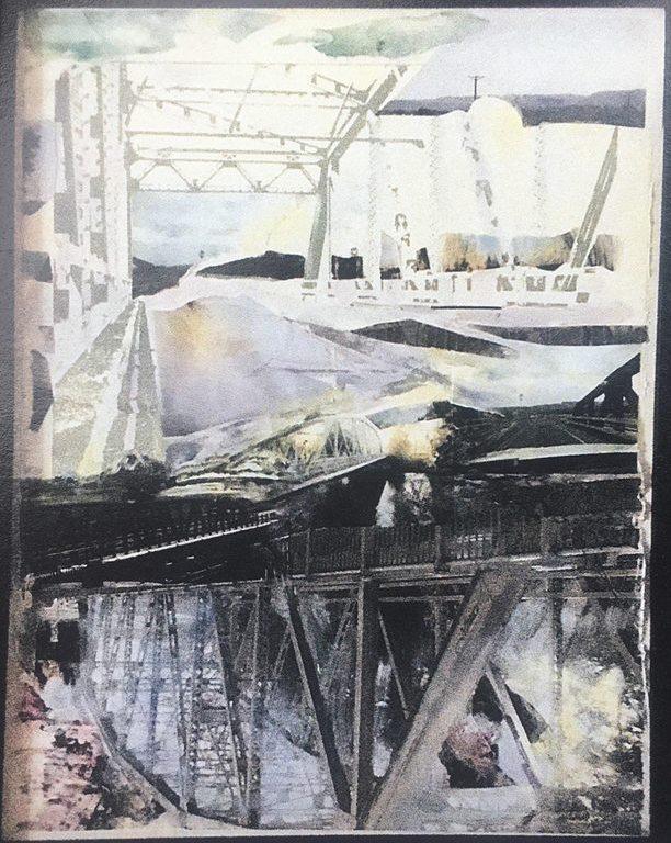 fran -painting mixed media